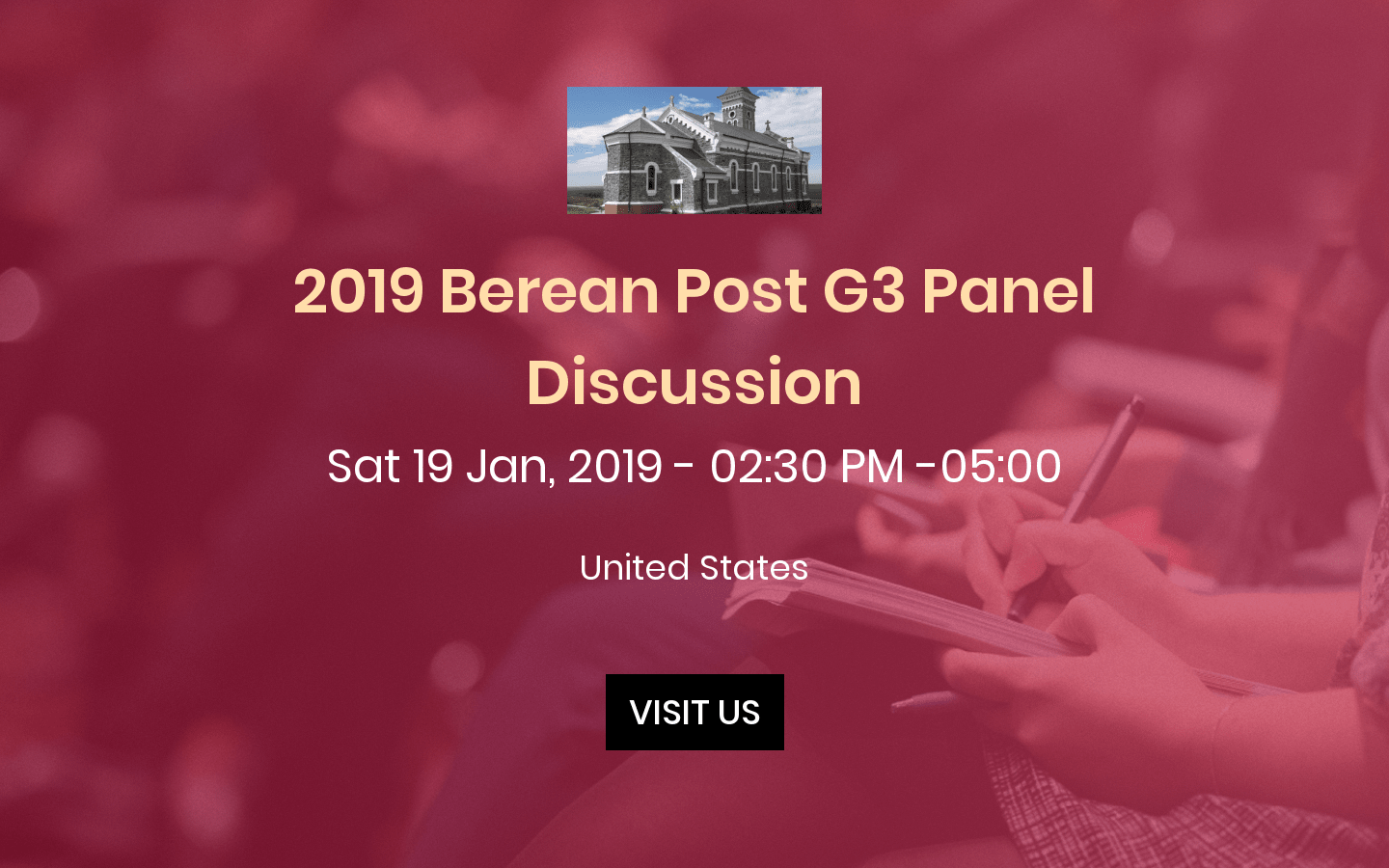 2019 Berean Post G3 Panel Discussion - Home